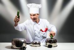 Estrela do cozinheiro chefe Fotos de Stock Royalty Free