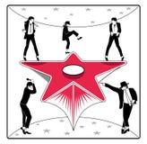Estrela do dançarino ilustração stock