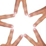 Estrela do dedo imagens de stock royalty free