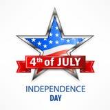 Estrela do Dia da Independência Fotografia de Stock Royalty Free