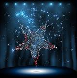 Estrela do disco no fundo da noite Imagem de Stock