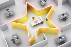 Estrela do escritório Imagens de Stock