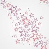 A estrela do Feliz Natal dá forma ao backg sem emenda do teste padrão Foto de Stock Royalty Free