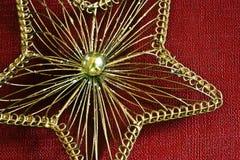 Estrela do fio do ouro Foto de Stock Royalty Free