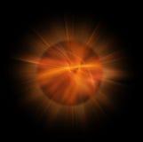 Estrela do Fractal no preto puro ilustração stock