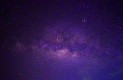 Estrela do fundo da noite do céu da galáxia Fotografia de Stock