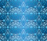 A estrela do hexágono muitos alinha o teste padrão sem emenda azul Imagem de Stock