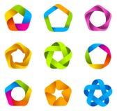 Estrela do logotipo infinita Imagens de Stock