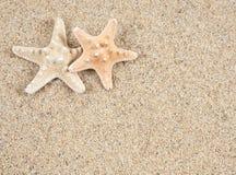 Estrela do mar e areia fotografia de stock