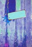Estrela do mar e espaço azuis Imagens de Stock
