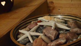 Estrela do mar e pedras Fotos de Stock