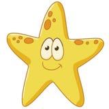 A estrela do mar está contente Fotos de Stock Royalty Free
