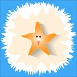 Estrela do mar feliz na areia da praia Imagem de Stock Royalty Free