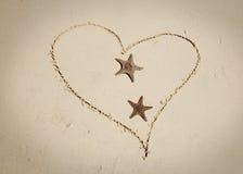 Estrela do mar no amor Imagem de Stock