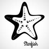 Estrela do mar preta do logotipo Imagens de Stock Royalty Free