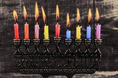 Estrela do menorah de David Hanukkah fotografia de stock