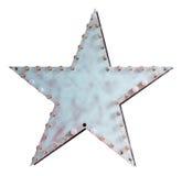 Estrela do metal com lâmpadas imagens de stock