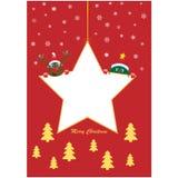Estrela do Natal com árvore e Rudolf Fotos de Stock