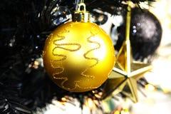 Estrela do Natal do ouro foto de stock