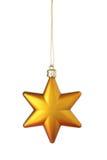 Estrela do Natal do ouro Imagem de Stock Royalty Free