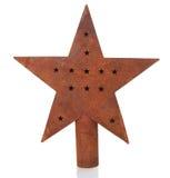 Estrela do Natal do vintage Fotografia de Stock