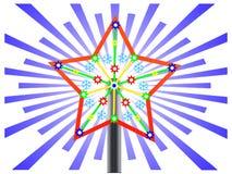 Estrela do Natal em uma árvore do ano novo Ilustração Stock