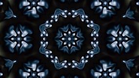 Estrela do Natal Kaleiddoscope azul decorativo Foto de Stock