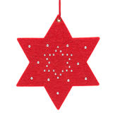 Estrela do Natal no branco Fotos de Stock Royalty Free