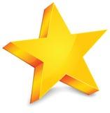 Estrela do ouro Imagem de Stock