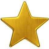 Estrela do ouro Fotografia de Stock