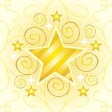 Estrela do ouro ilustração stock