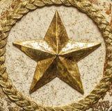 Estrela do ouro Fotografia de Stock Royalty Free