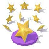 Estrela do ouro do brinquedo do Natal Imagens de Stock Royalty Free