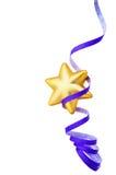 Estrela do ouro com flâmula de papel Imagem de Stock Royalty Free