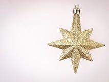Estrela do ouro do espaço Fotografia de Stock Royalty Free