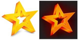 Estrela do ouro dois Imagens de Stock Royalty Free