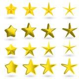Estrela do ouro no fundo claro Imagem de Stock