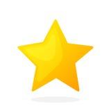 Estrela do ouro sem contorno Fotografia de Stock