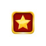 Estrela do ouro Vetor Fotos de Stock Royalty Free
