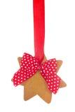 Estrela do pão do gengibre foto de stock