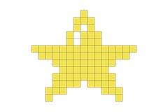 Estrela do pixel Fotografia de Stock Royalty Free