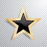 Estrela do preto do ouro da gema ilustração do vetor