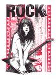 Estrela do rock Fotos de Stock
