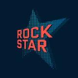 Estrela do rock ilustração do vetor