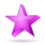 Estrela do rosa de Glas Imagens de Stock Royalty Free