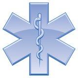 Estrela do símbolo do salvamento da vida ilustração do vetor
