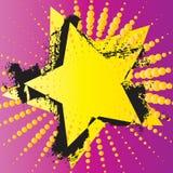 Estrela do vetor de Grunge Fotografia de Stock