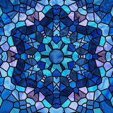 Estrela do vidro manchado Foto de Stock Royalty Free