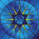 Estrela do vidro manchado ilustração royalty free