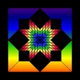 Estrela do vidro manchado Imagem de Stock